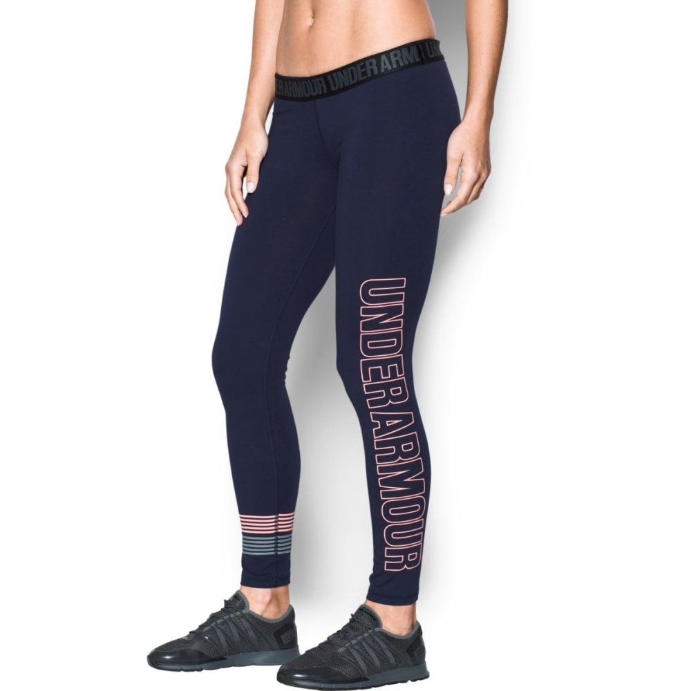 UNDER ARMOUR Women's Favorite Graphic Leggings - MDN/CAPE CORAL-410