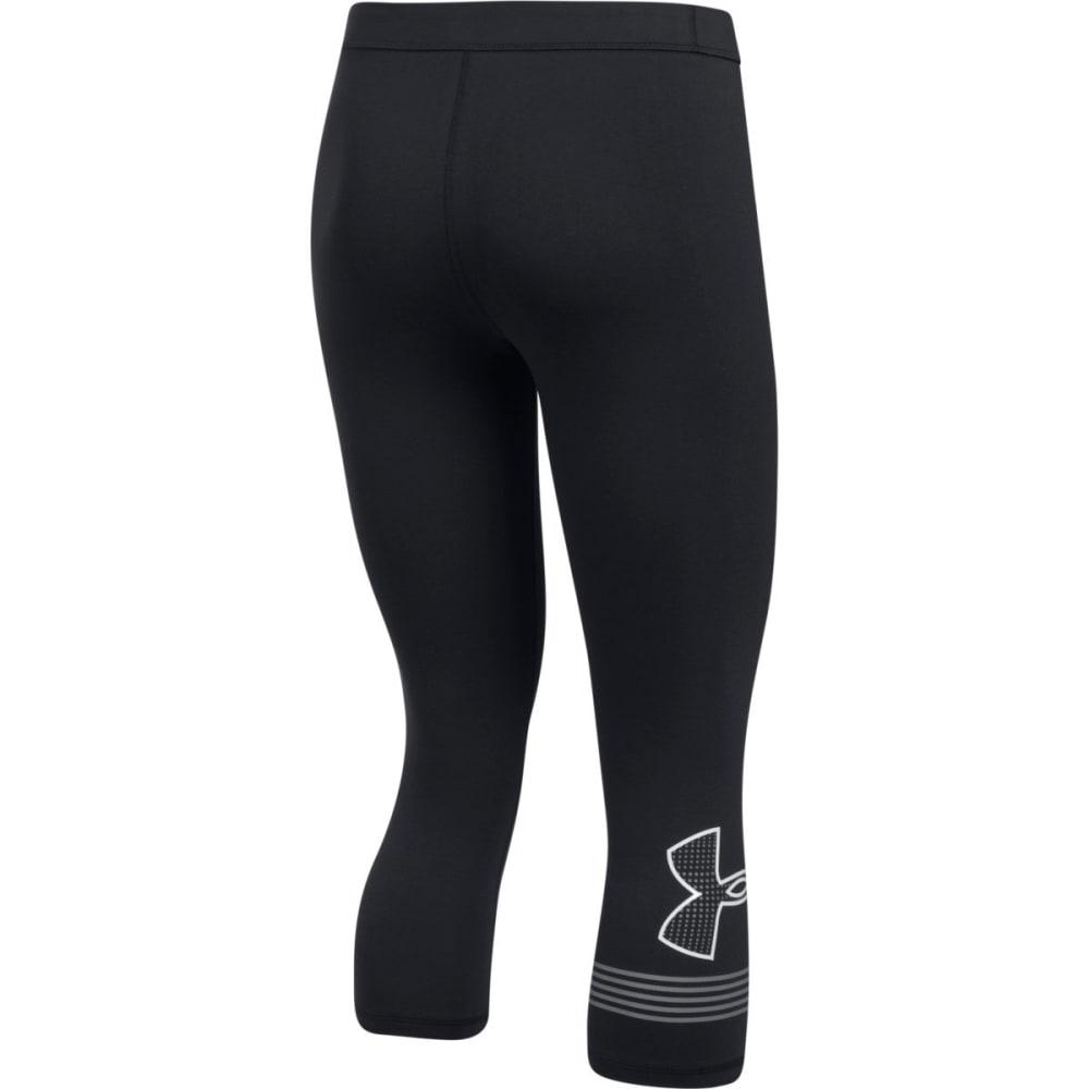 UNDER ARMOUR Women's Favorite Capri Graphic Leggings - BLACK/WHITE-001