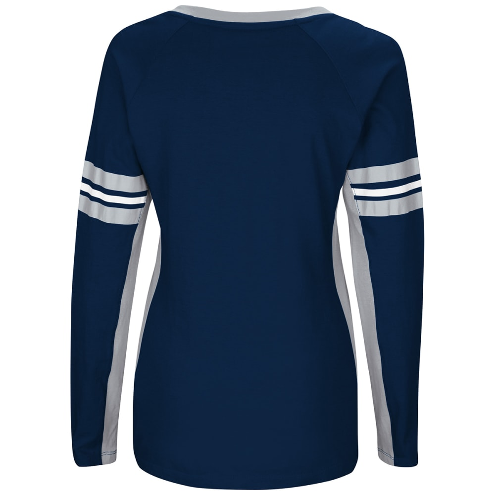 NEW ENGLAND PATRIOTS Women's Winning Style V-Neck Long-Sleeve Tee - NAVY