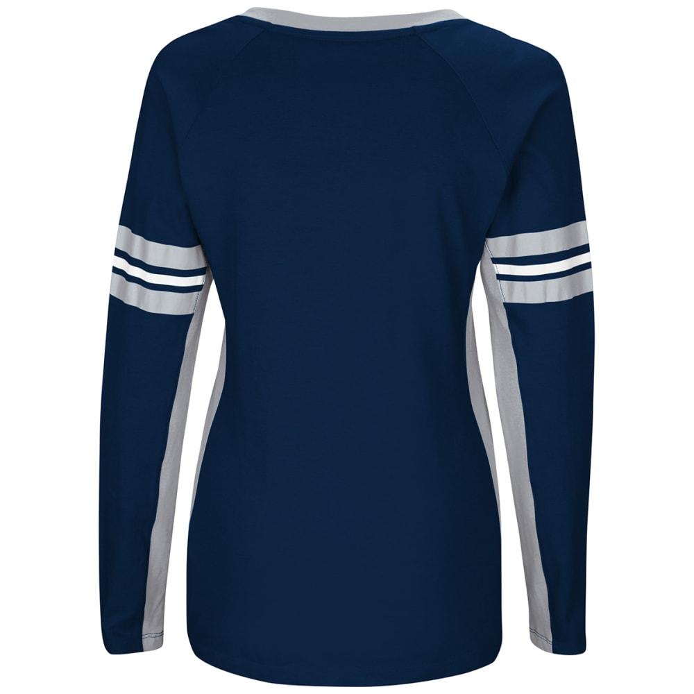 NEW ENGLAND PATRIOTS Women's Winning Style V-Neck Long-Sleeve Tee - NAVY