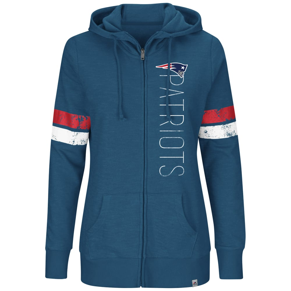NEW ENGLAND PATRIOTS Women's Athletic Tradition Full-Zip Hoodie - NAVY