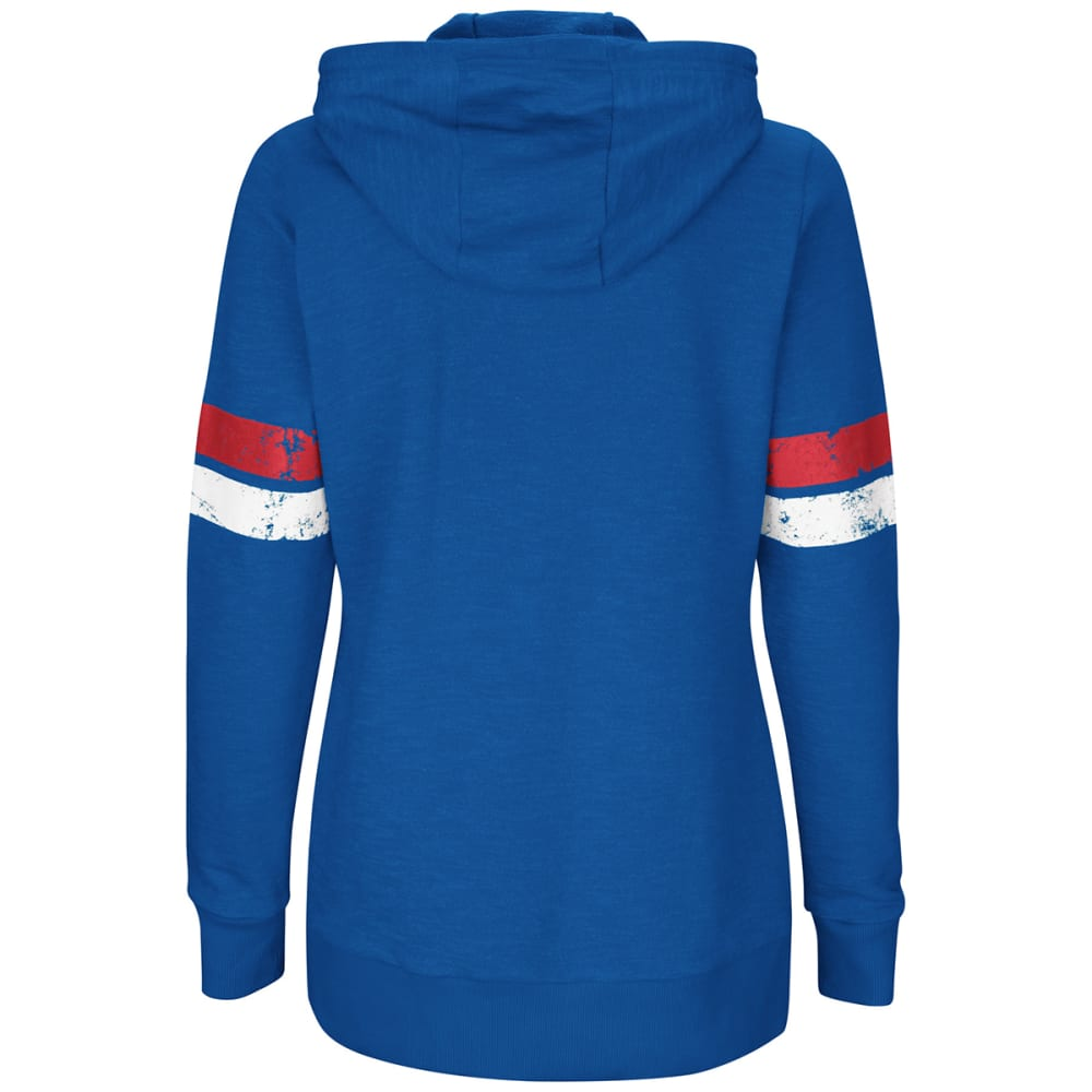 NEW YORK GIANTS Women's Athletic Tradition Full-Zip Hoodie - ROYAL BLUE