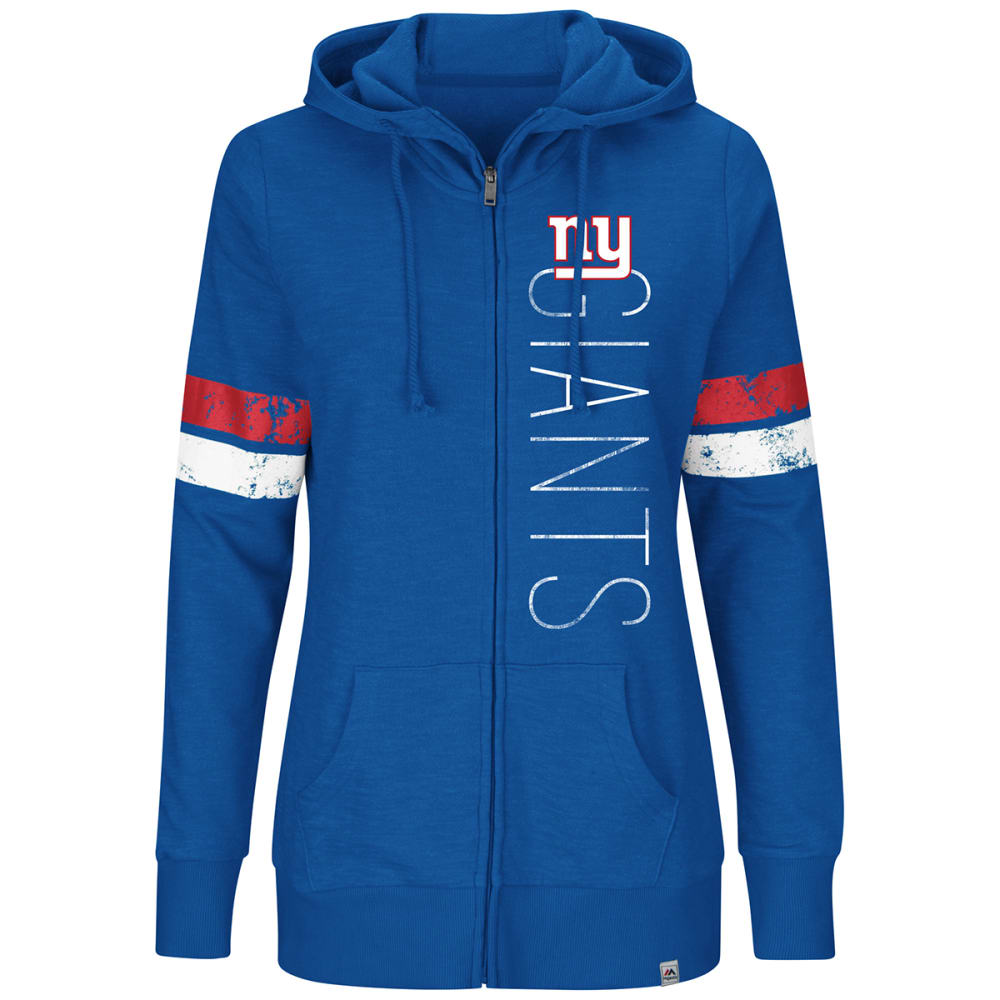 New York Giants Women's Athletic Tradition Full-Zip Hoodie - Blue, S