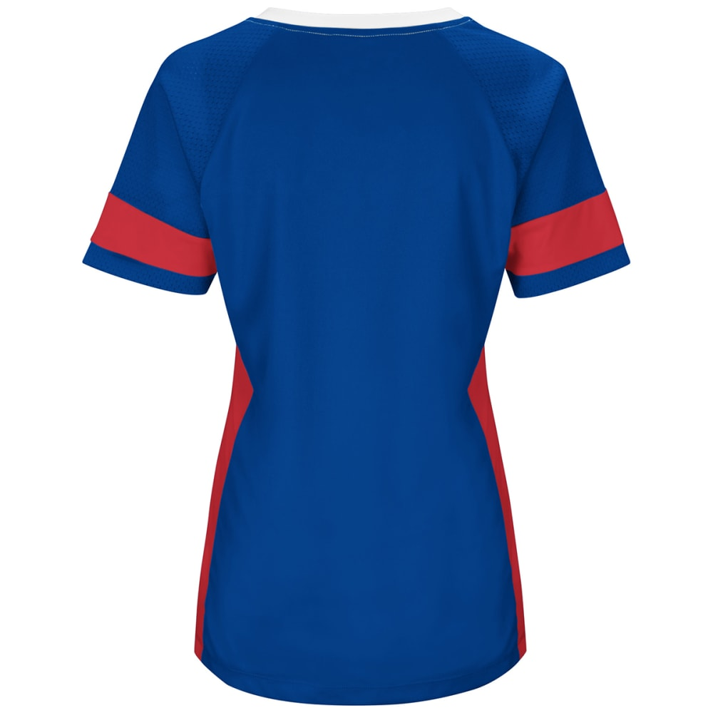 NEW YORK GIANTS Women's Draft Me Jersey Short-Sleeve Top - ROYAL BLUE