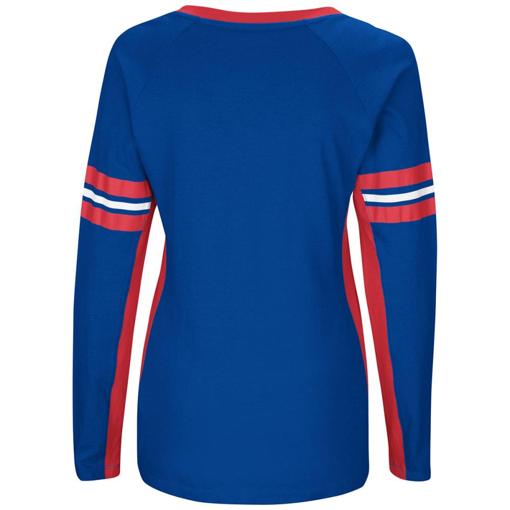 NEW YORK GIANTS Women's Winning Style V-Neck Long-Sleeve Tee - ROYAL BLUE