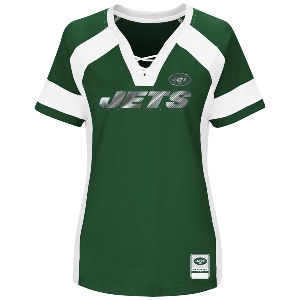 NEW YORK JETS Women's Draft Me Jersey Short-Sleeve Top - GREEN
