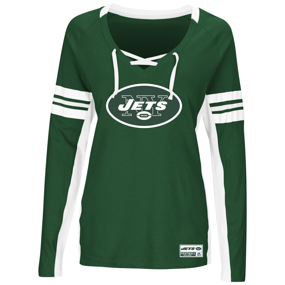 NEW YORK JETS Women's Winning Style V-Neck Long-Sleeve Tee S