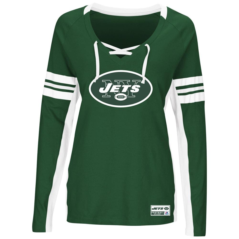 NEW YORK JETS Women's Winning Style V-Neck Long-Sleeve Tee - GREEN