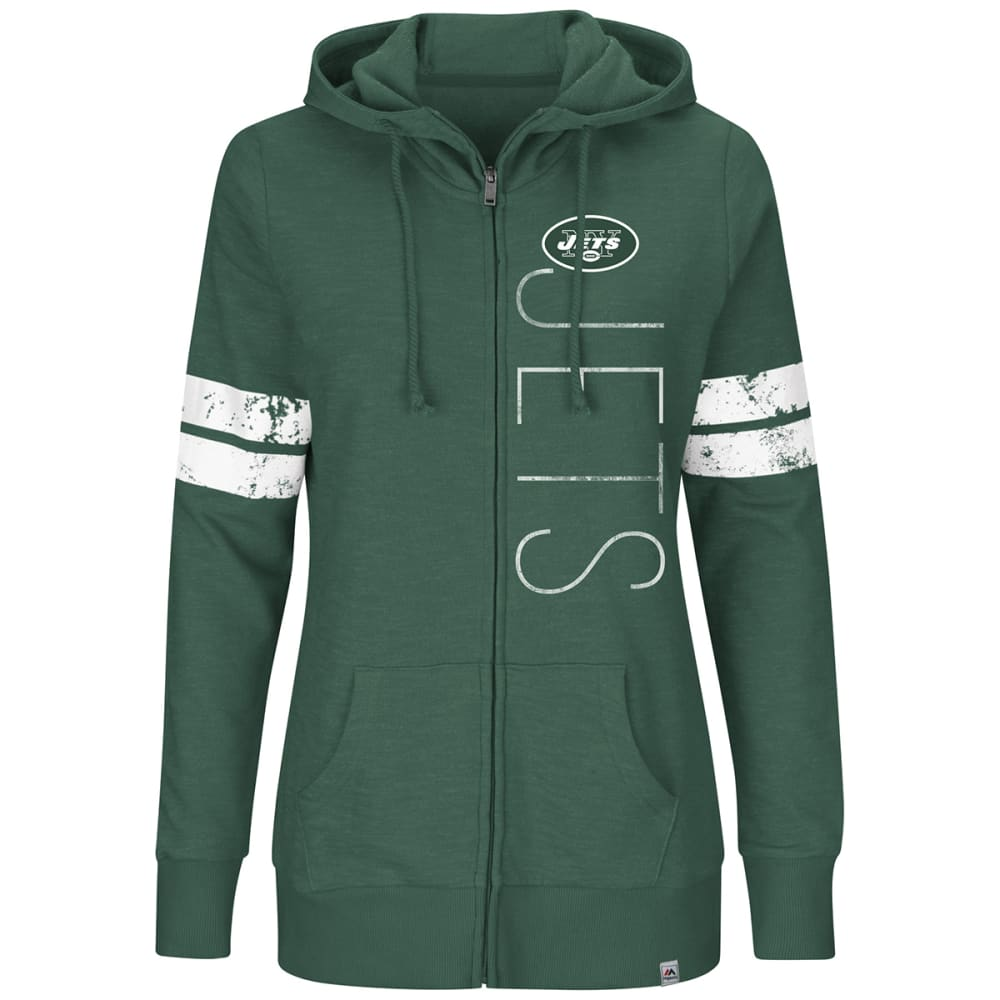 NEW YORK JETS Women's Athletic Tradition Full-Zip Hoodie - GREEN