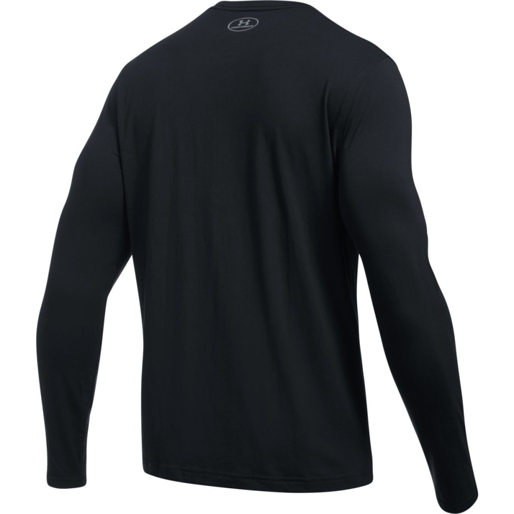 UNDER ARMOUR Men's Chest Logo Long-Sleeve Tee - BLACK/STEEL-001