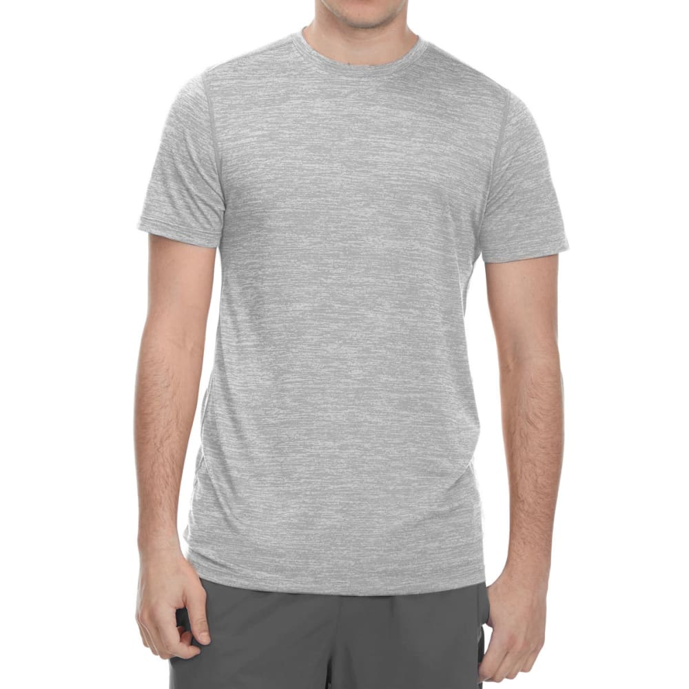 LAYER 8 Men's Fleck Heather Wicking Short-Sleeve Tee - GREYSTONE
