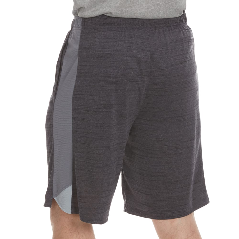 LAYER 8 Men's Space-Dye Heather Training Shorts - GREYSTONE/GREY