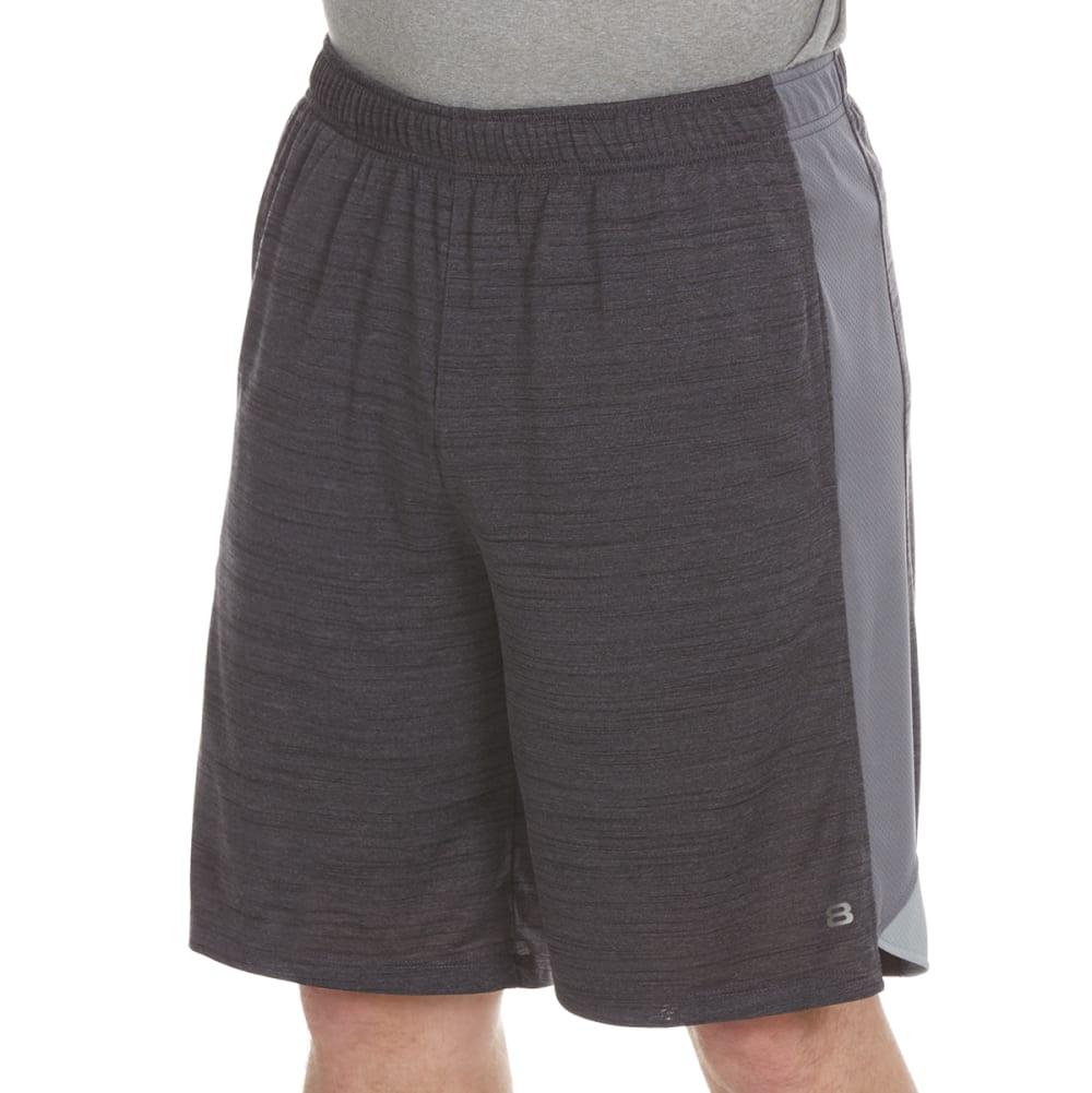 LAYER 8 Men's Space-Dye Heather Training Shorts - GREYSTONE/GREY