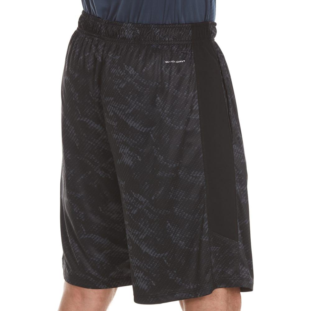 LAYER 8 Men's Printed Knit Training Shorts - RICH BLACK PRINT