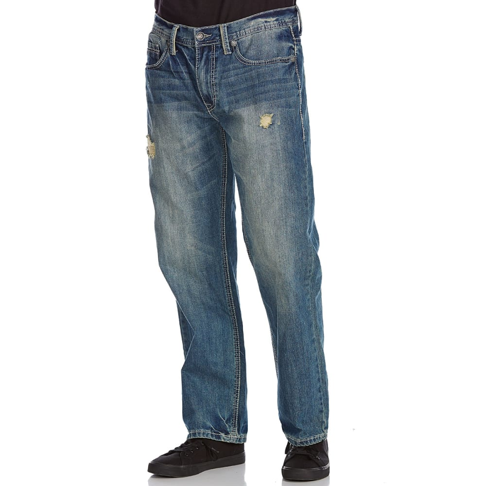 AXEL Guys' Niantic Relaxed Fit Straight Leg Deconstructed Jeans - NIANTIC