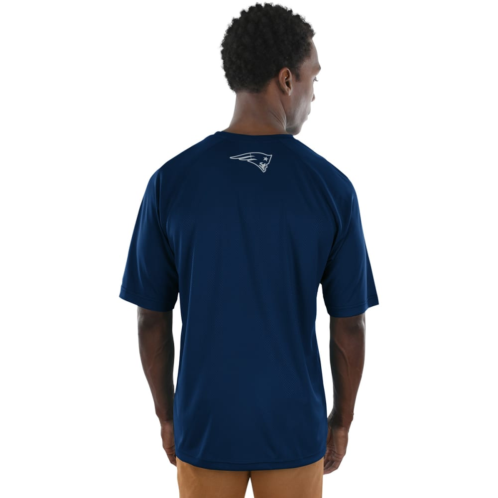 NEW ENGLAND PATRIOTS Men's Fanfare Poly Short-Sleeve Tee - NAVY