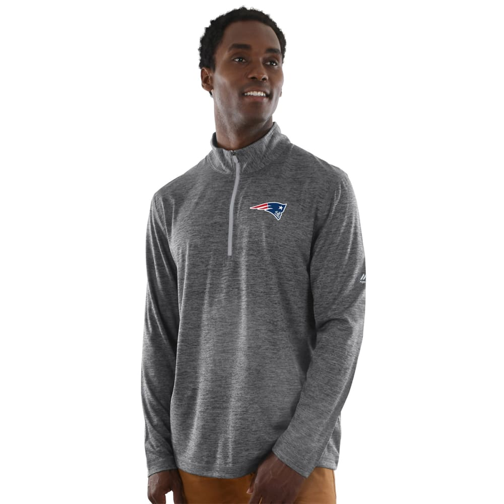 NEW ENGLAND PATRIOTS Men's Intimidating Poly ½-Zip Pullover - CHARCOAL