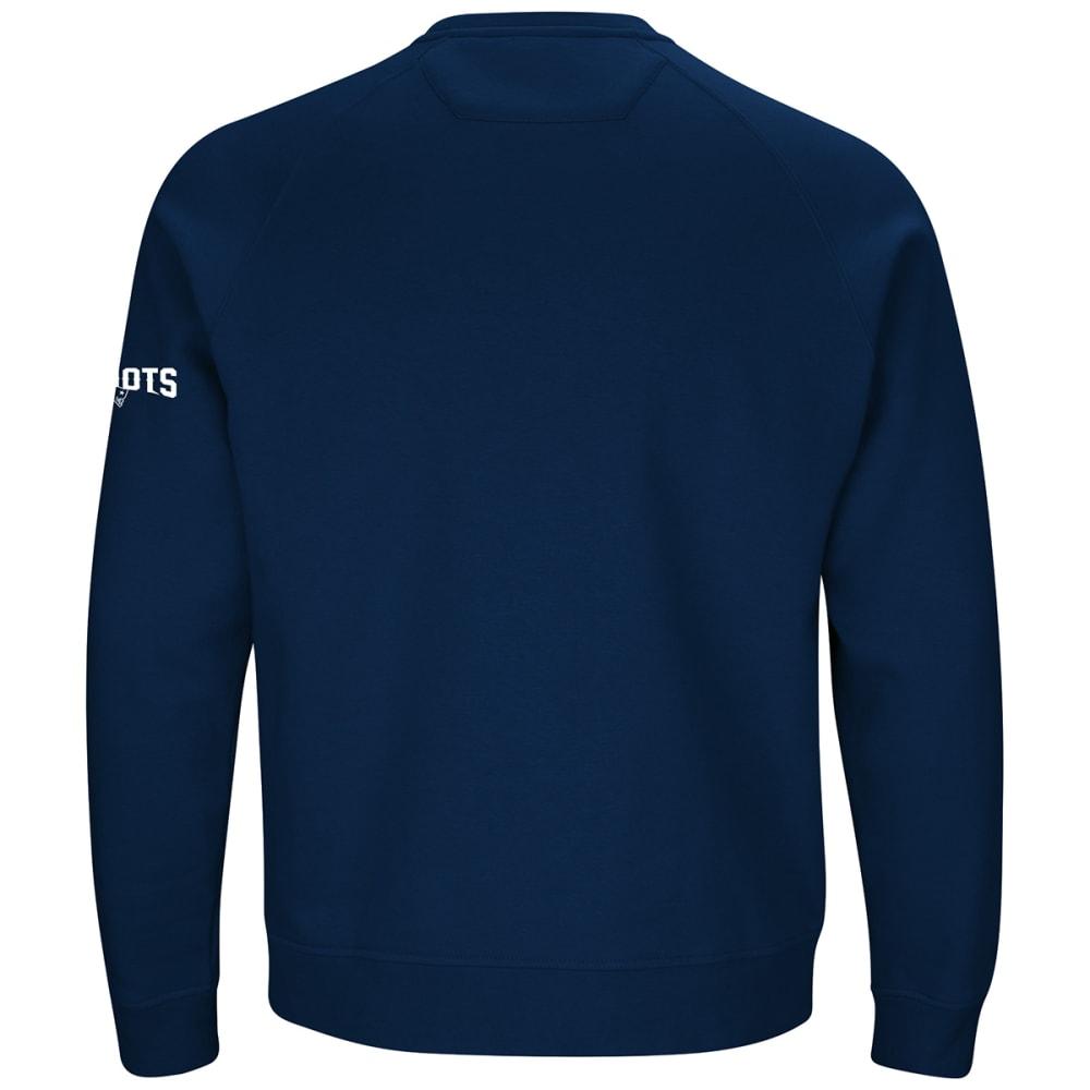 NEW ENGLAND PATRIOTS Men's Classic Crew Sweatshirt - NAVY