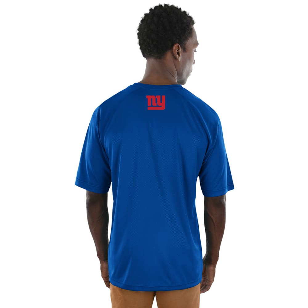 NEW YORK GIANTS Men's Fanfare Poly Short-Sleeve Tee - ROYAL BLUE