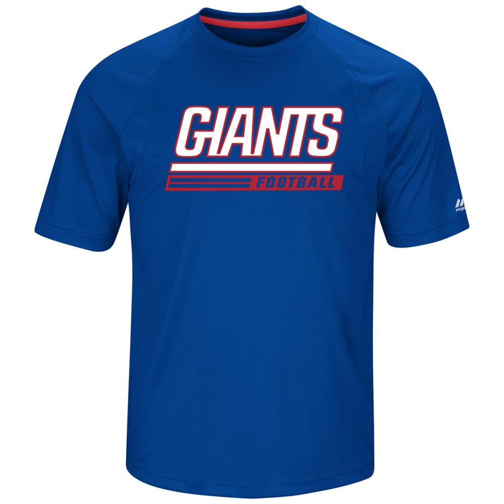 NEW YORK GIANTS Men's Fanfare Poly Short-Sleeve Tee - ROYAL BLUE