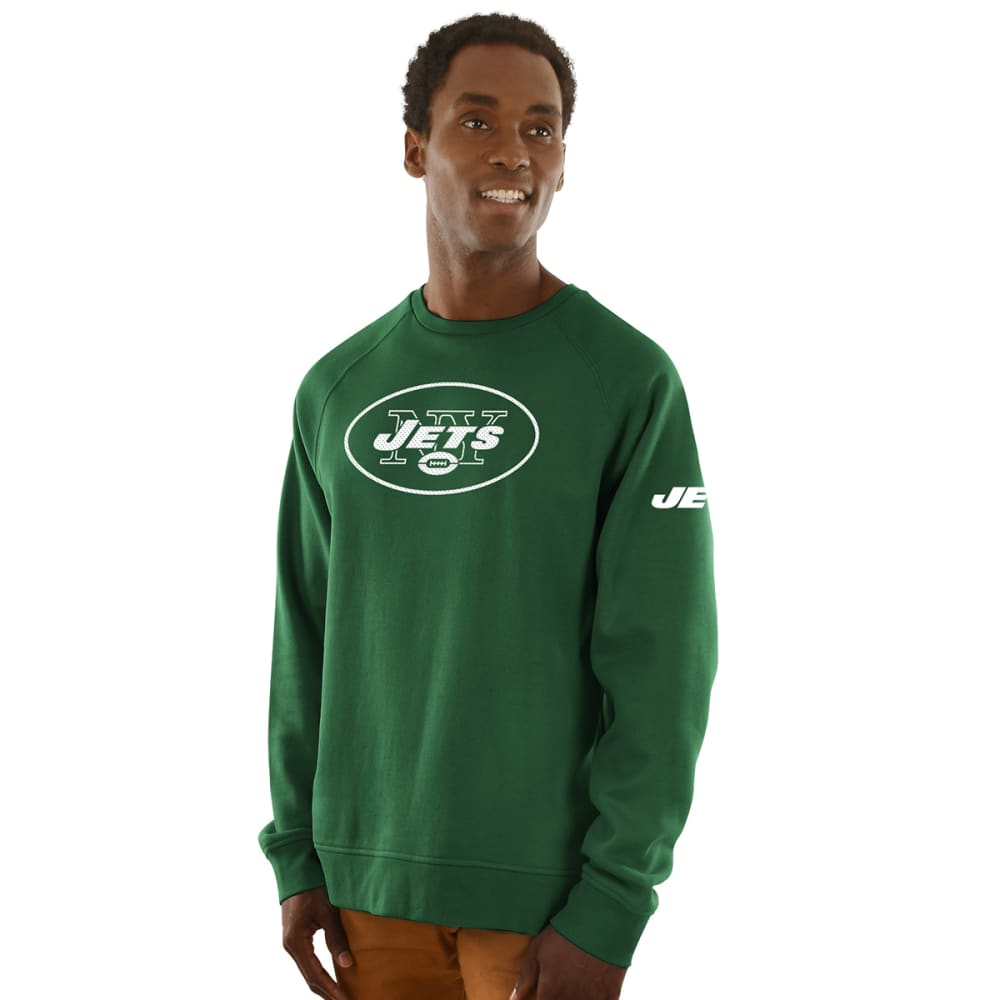 NEW YORK JETS Men's Classic Crew Sweatshirt - DARK GREEN