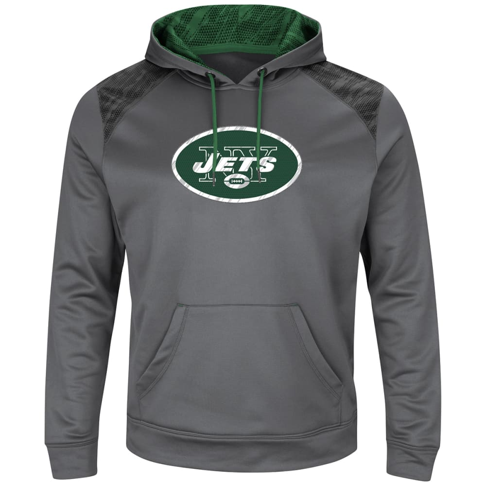 NEW YORK JETS Men's Armor Pullover Hoodie - GREY