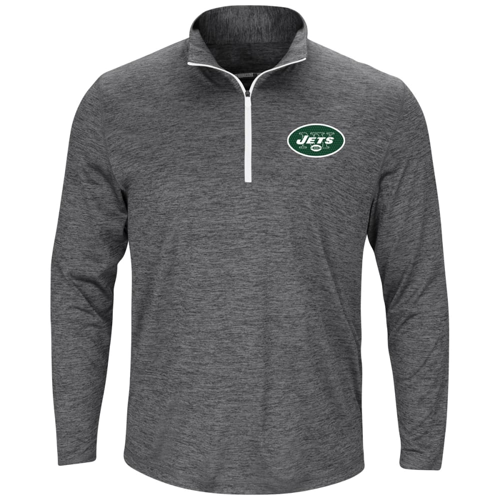 NEW YORK JETS Men's Intimidating Poly ½-Zip Pullover - CHARCOAL