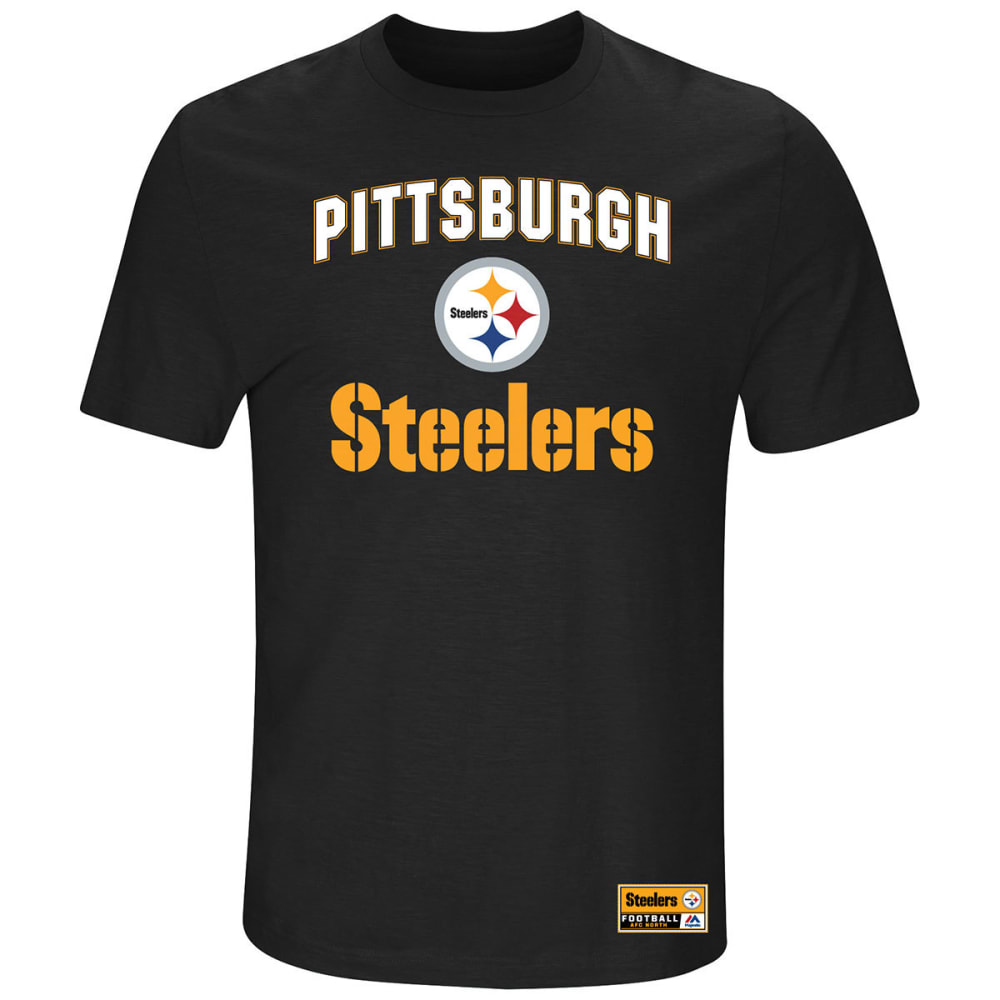 PITTSBURGH STEELERS Men's Line of Scrimmage Short-Sleeve Tee - BLACK