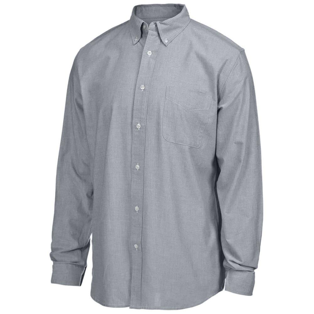 NATURAL BASIX Men's Slim Bengal Woven Long Sleeve Shirt - BLACK