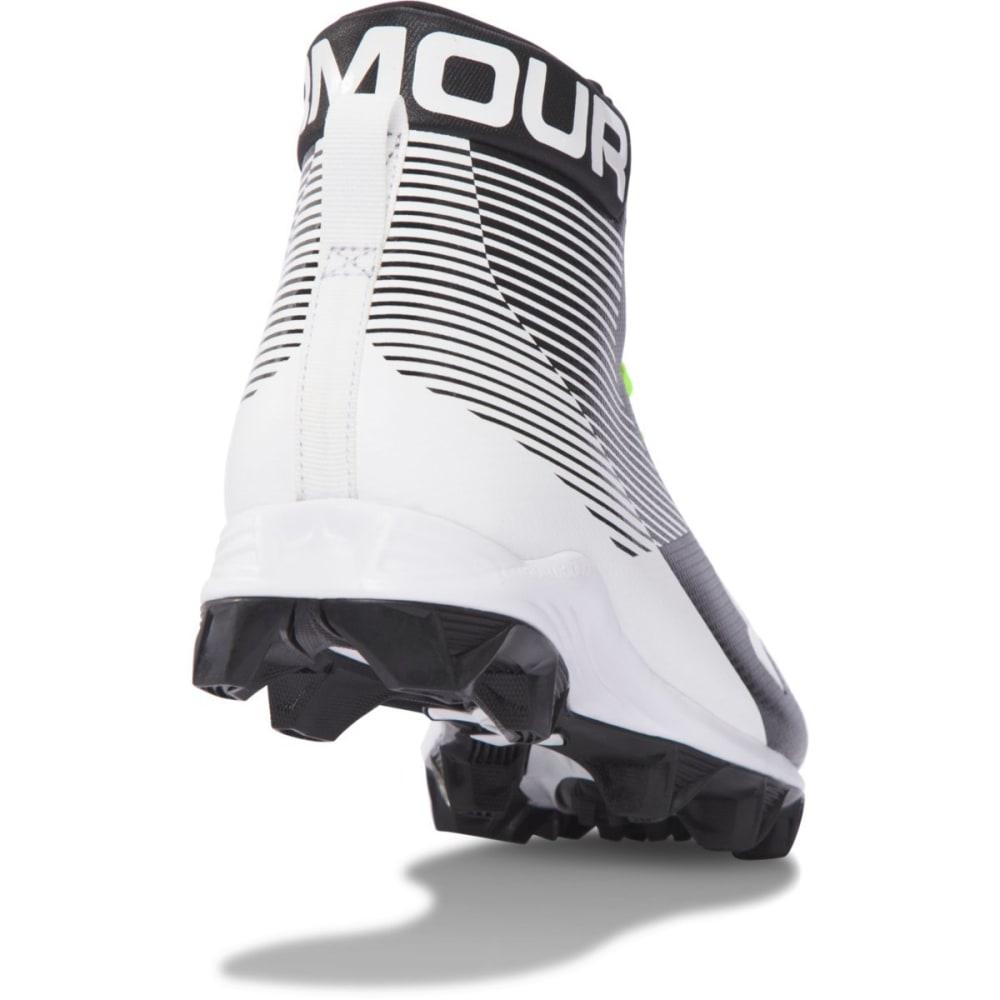 UNDER ARMOUR Men's Hammer RM Football Cleats, Black/White - BLACK
