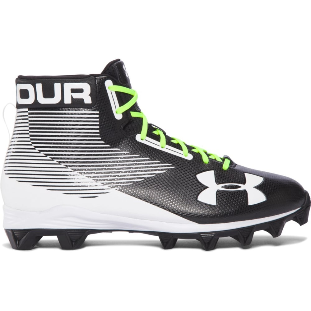 UNDER ARMOUR Men's Hammer RM Football Cleats, Black/White 6.5