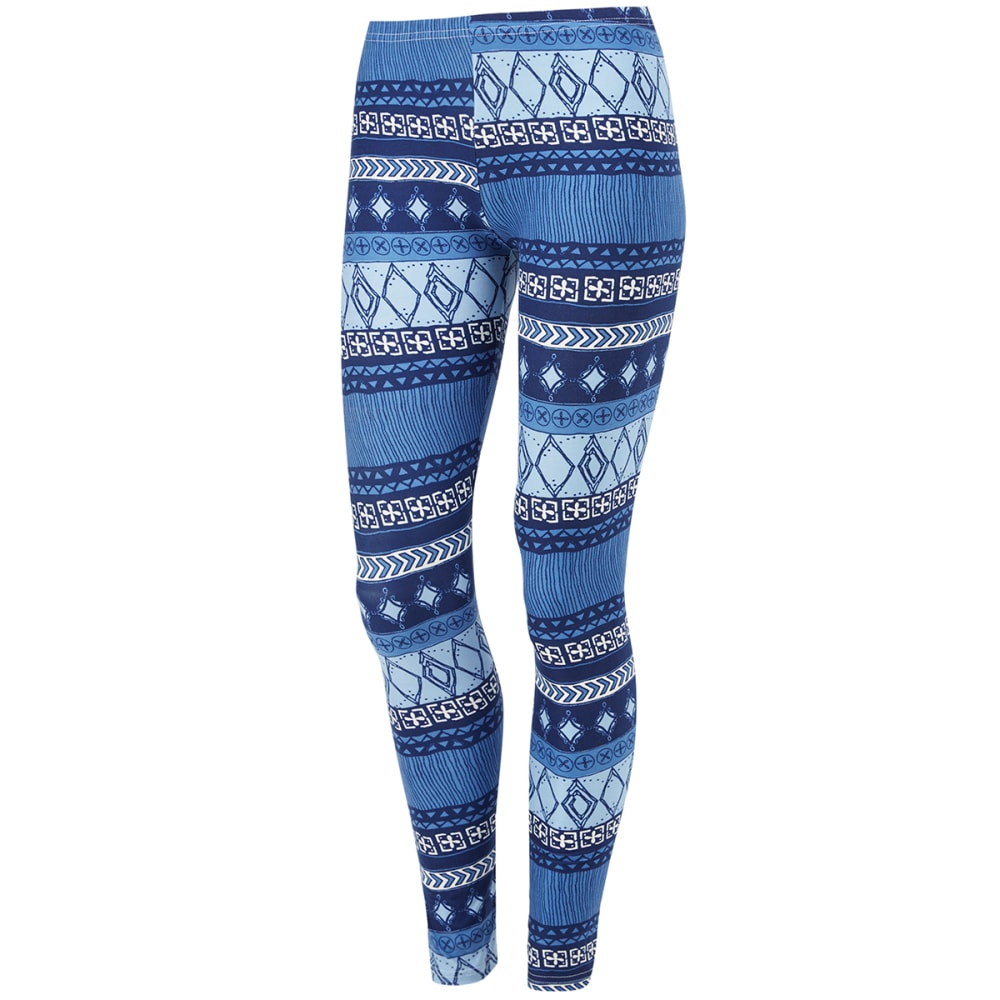POOF Juniors' Paisley Print Peached Leggings - BLUE COMBO