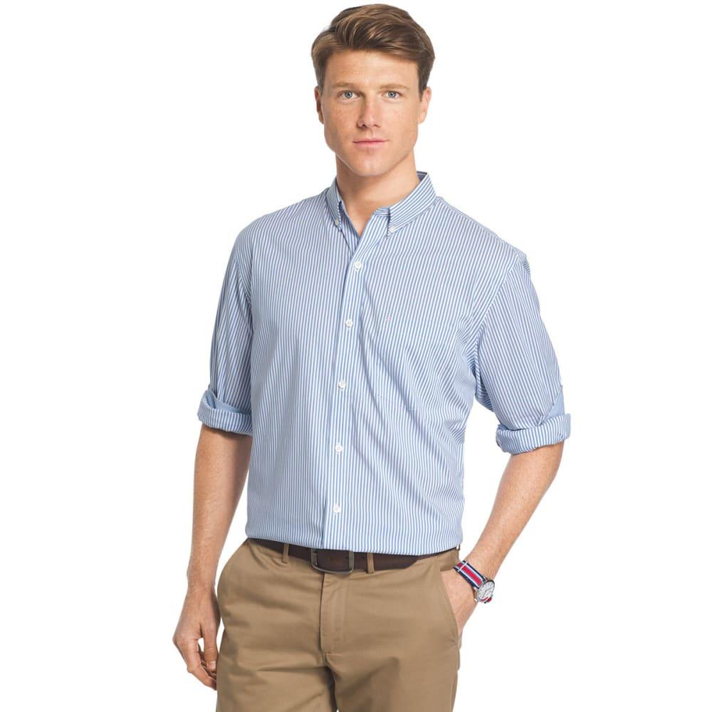IZOD Men's Stretch Stripe Long Sleeve Woven Shirt - BLUE REVIVAL-464