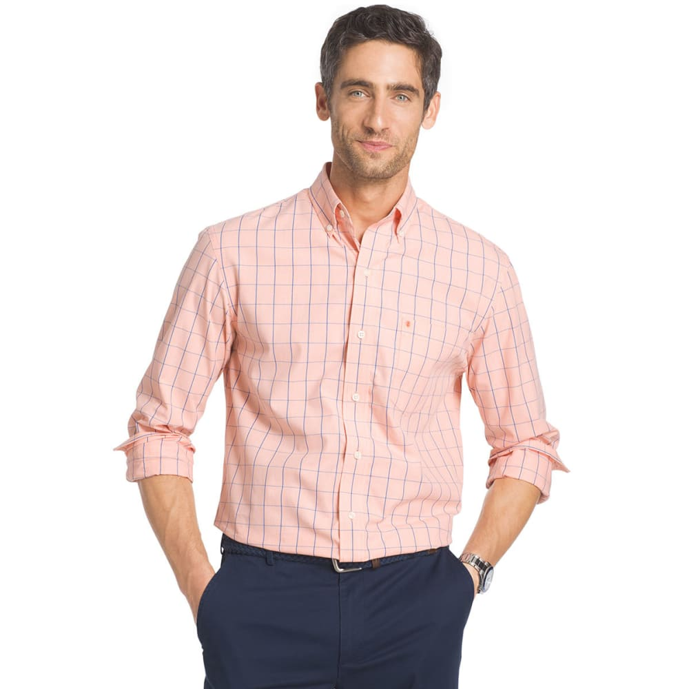 IZOD Men's Essential Windowpane Long-Sleeve Shirt - SOUR ORG-805