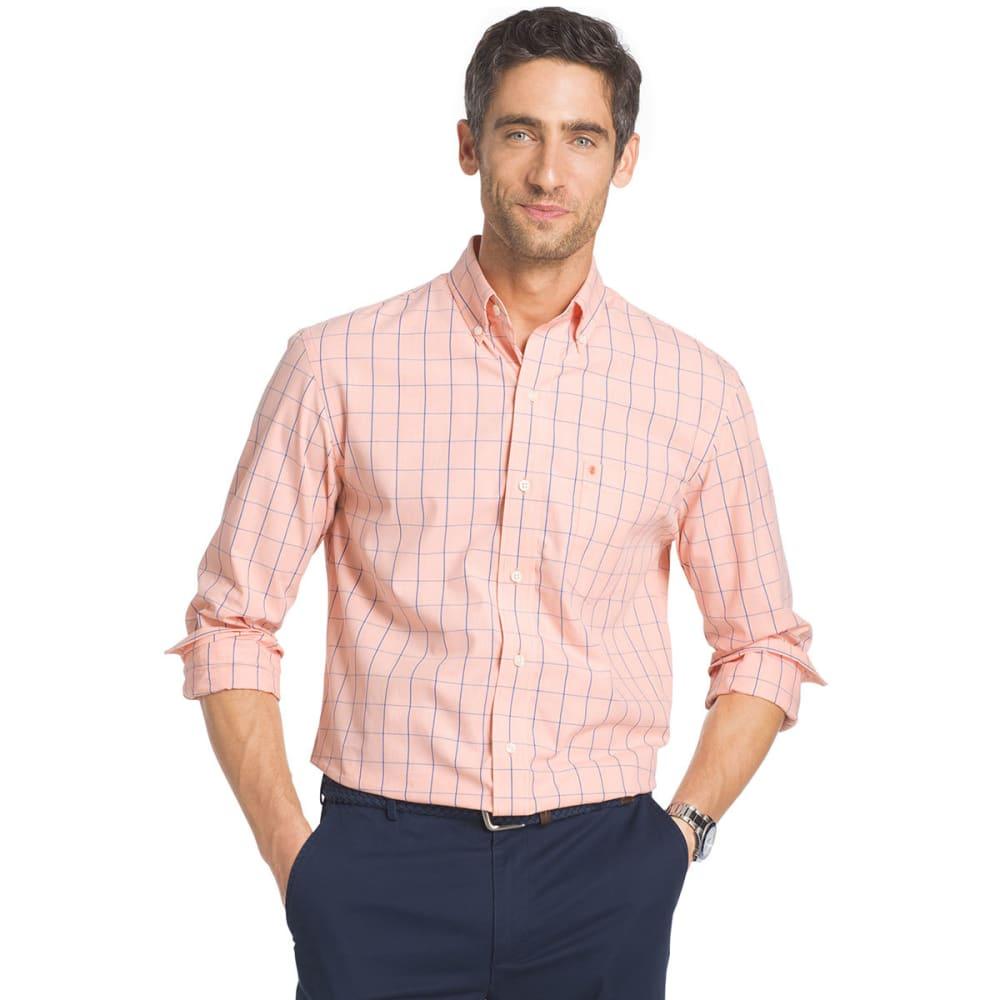 IZOD Men's Essential Windowpane Long-Sleeve Shirt - SOUR ORG-805