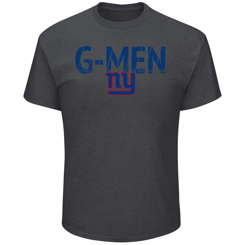 NEW YORK GIANTS Men's Safety Blitz G-Men Short-Sleeve Tee - CHARCOAL