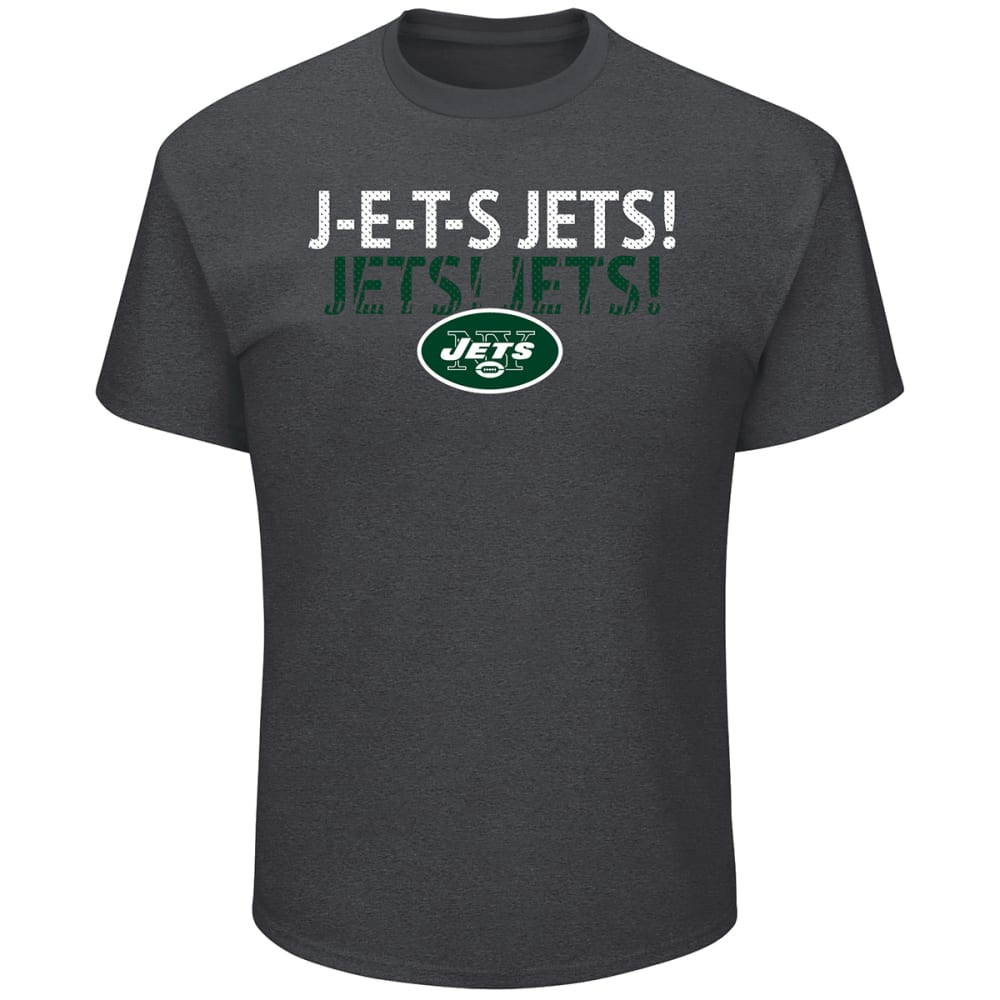 NEW YORK JETS Men's Safety Blitz J-E-T-S Short-Sleeve Tee - CHARCOAL