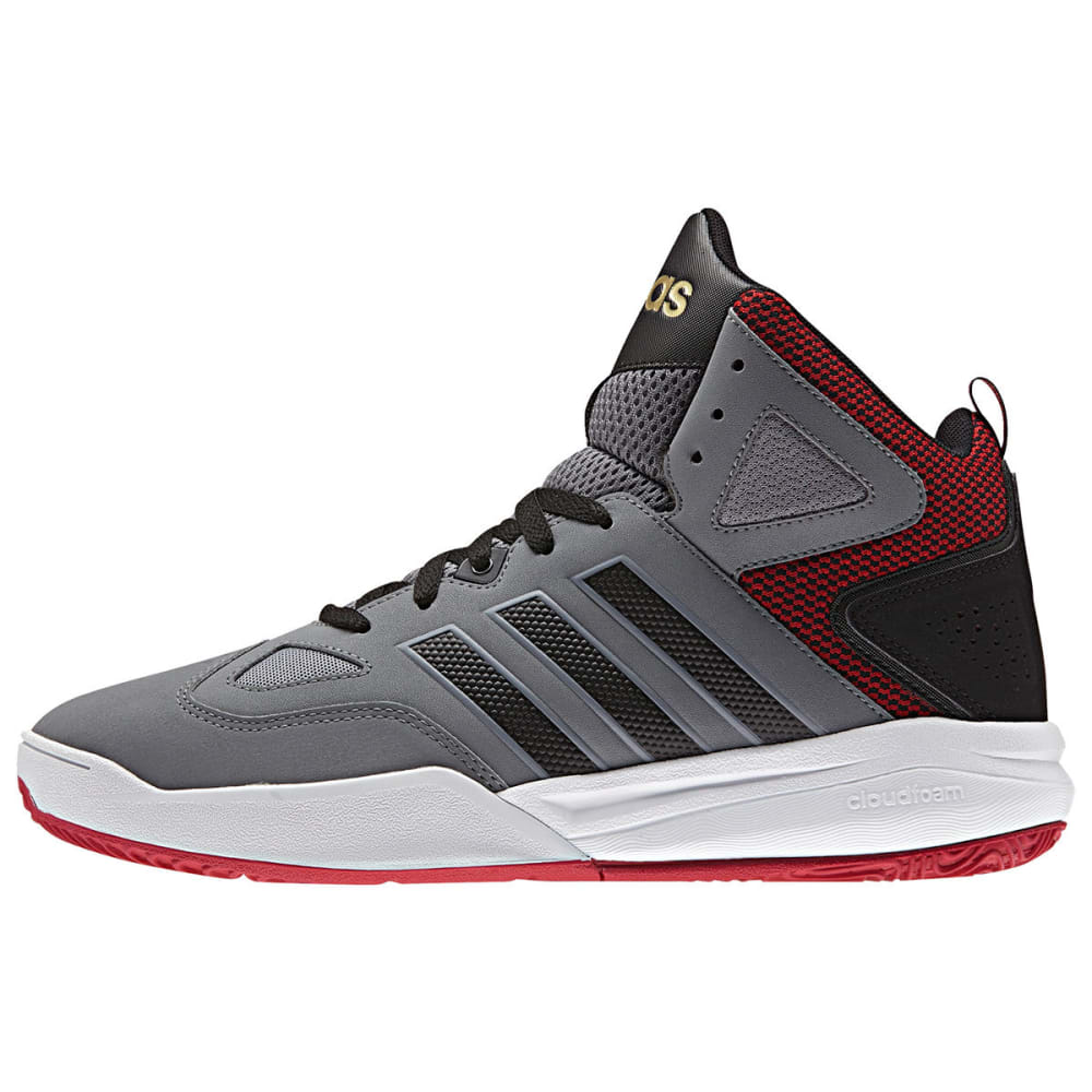 ADIDAS Men's Cloudfoam Thunder Mid Basketball Shoes - GREY