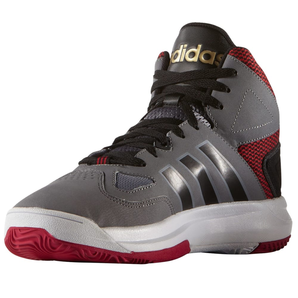 ADIDAS Men's Cloudfoam Thunder Mid Basketball Shoes - GREY
