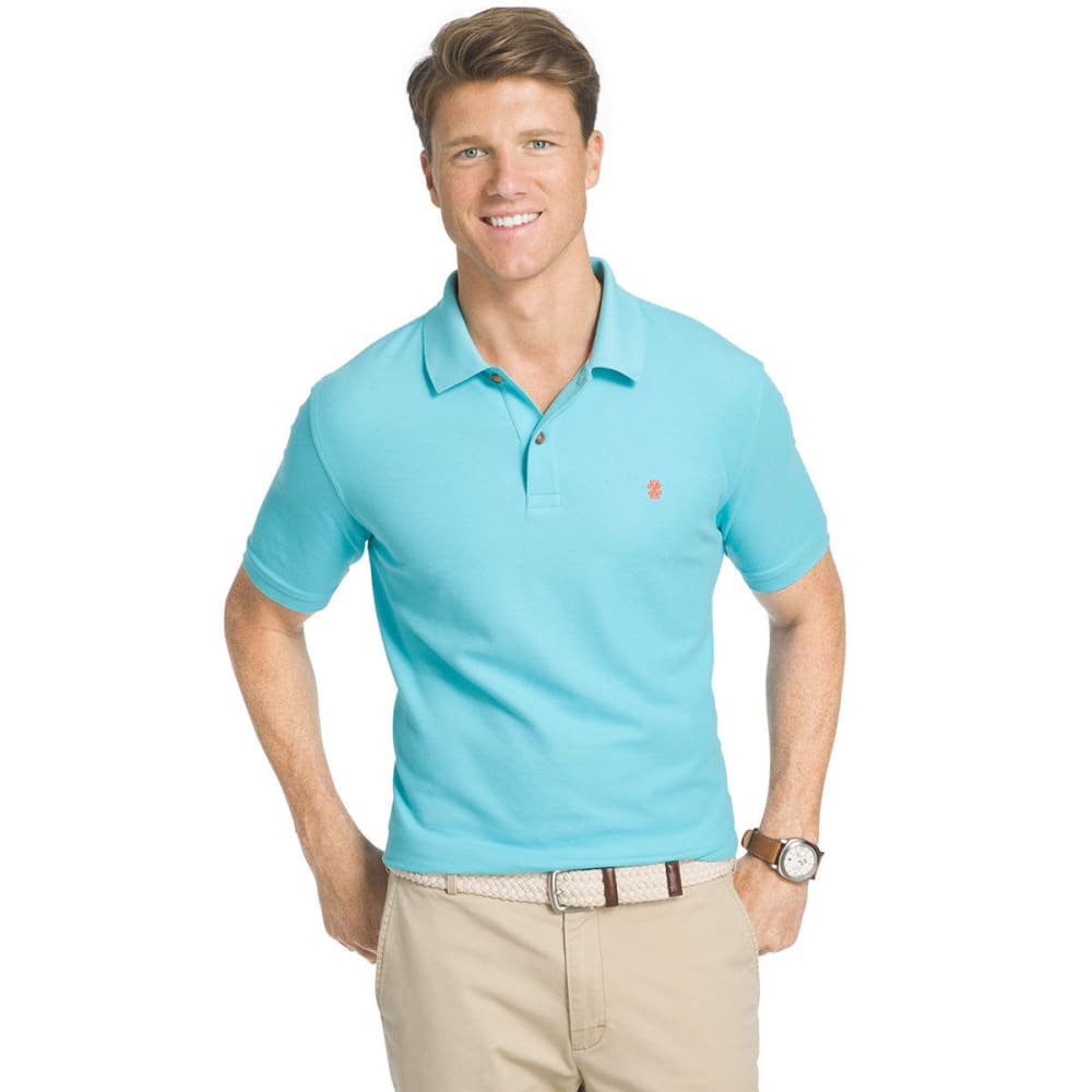 Izod Men's Advantage Performance Polo Shirt - Blue, XXL