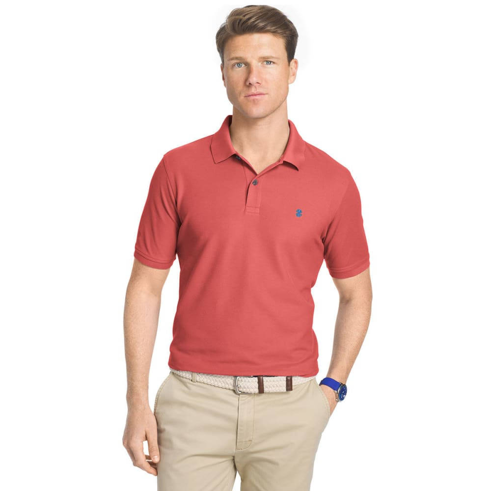 IZOD Men's Advantage Performance Polo Shirt - RAPTURE ROSE-697