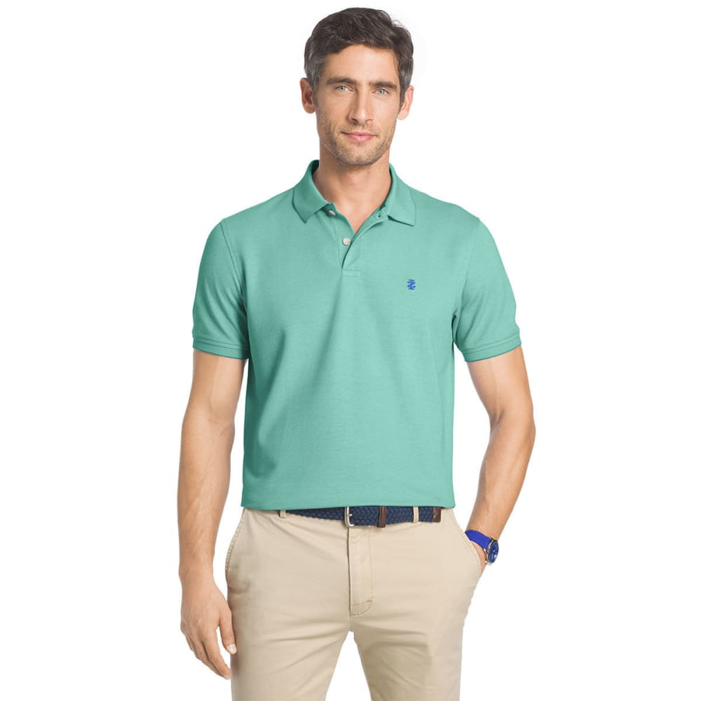 IZOD Men's Advantage Solid Oxford Polo Short-Sleeve Shirt - SIMPLY GREEN-321