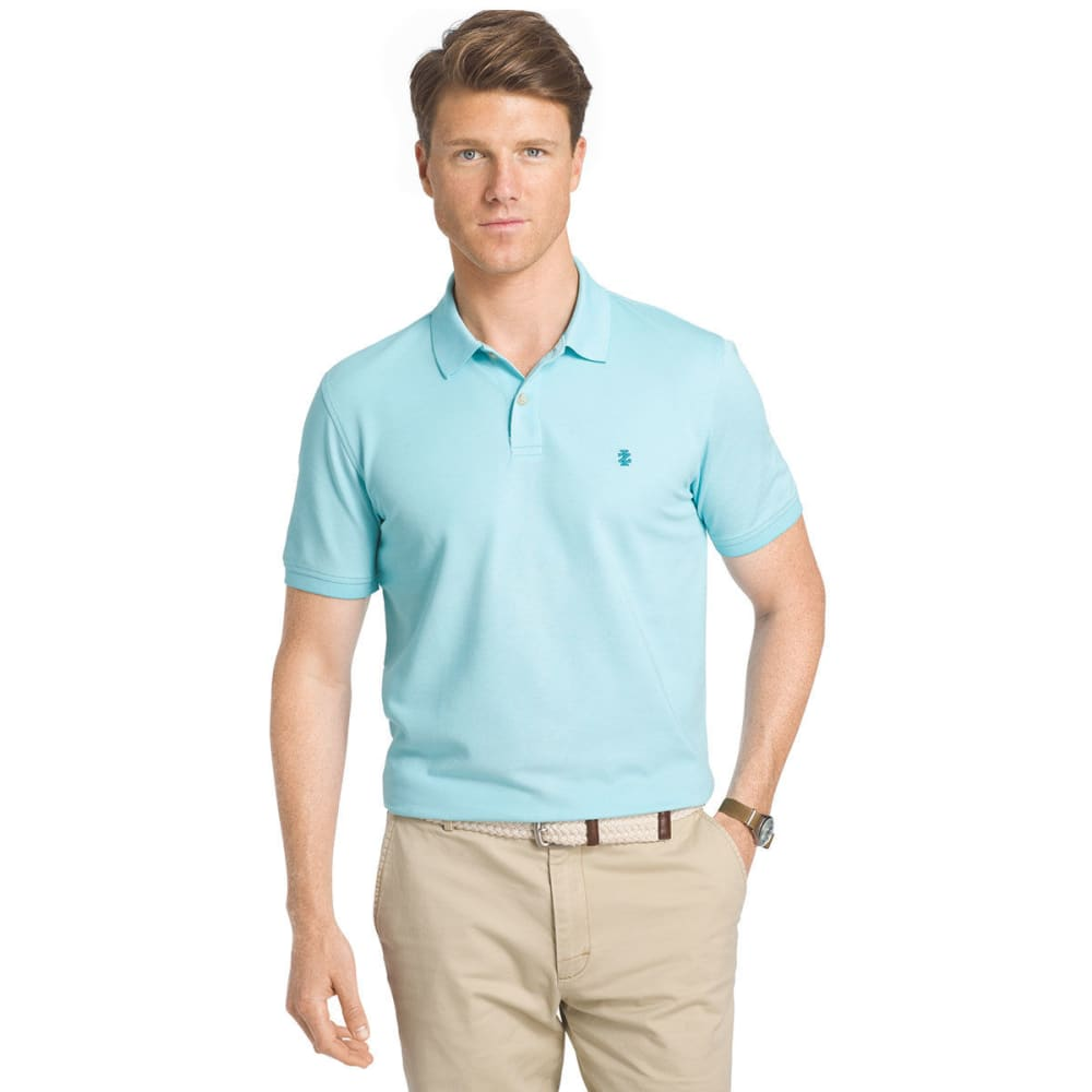 IZOD Men's Advantage Solid Oxford Polo Short-Sleeve Shirt - BLUE RADIANCE-477