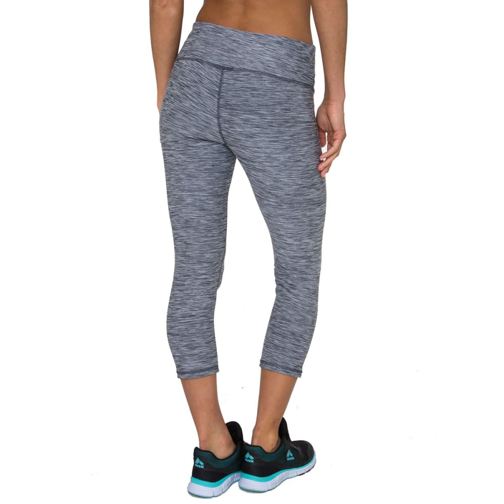 RBX Women's Striated Leggings, 21 IN. - GREY-E