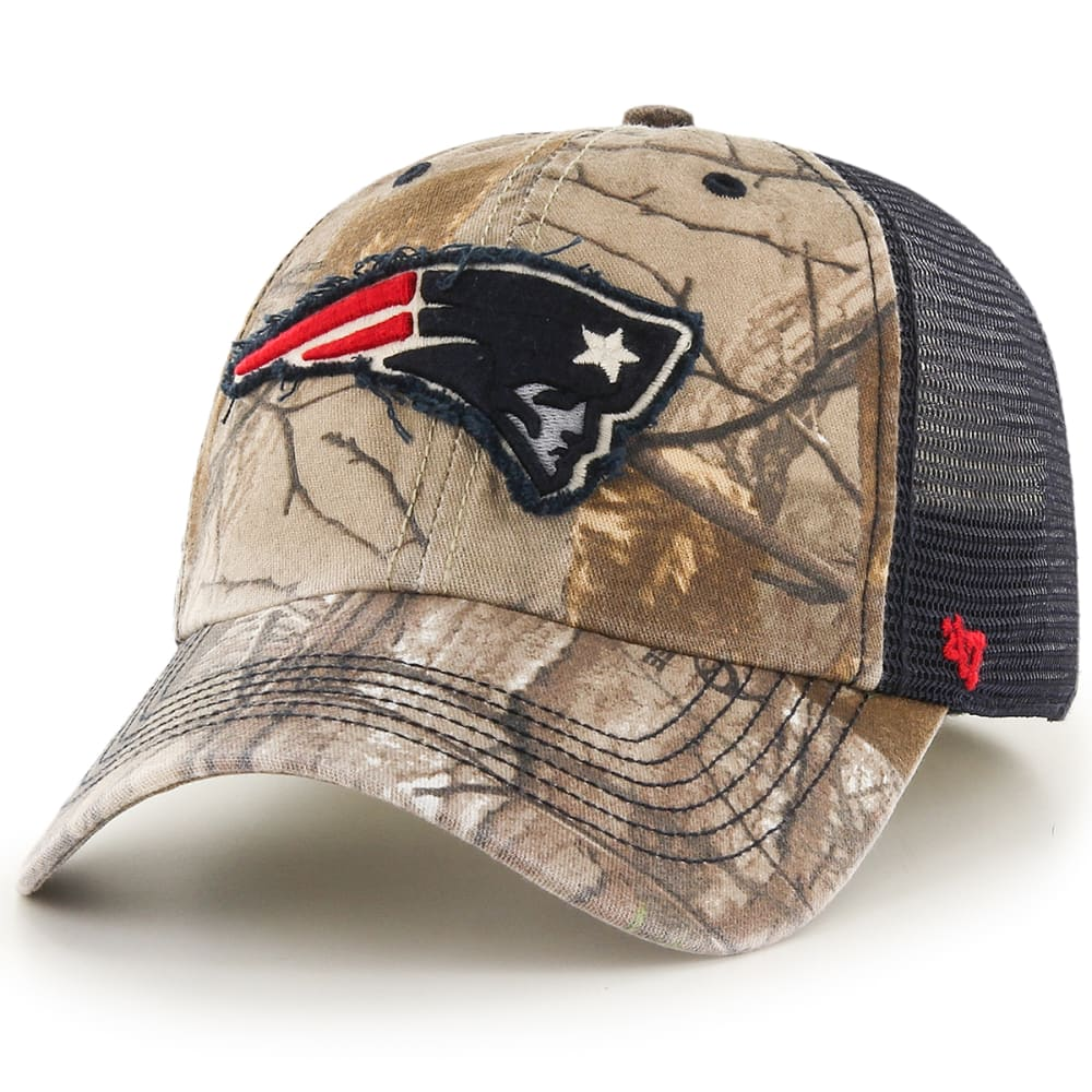 New England Patriots Men's Realtree Huntsman '47 Closer Mesh Cap - Green, M/L