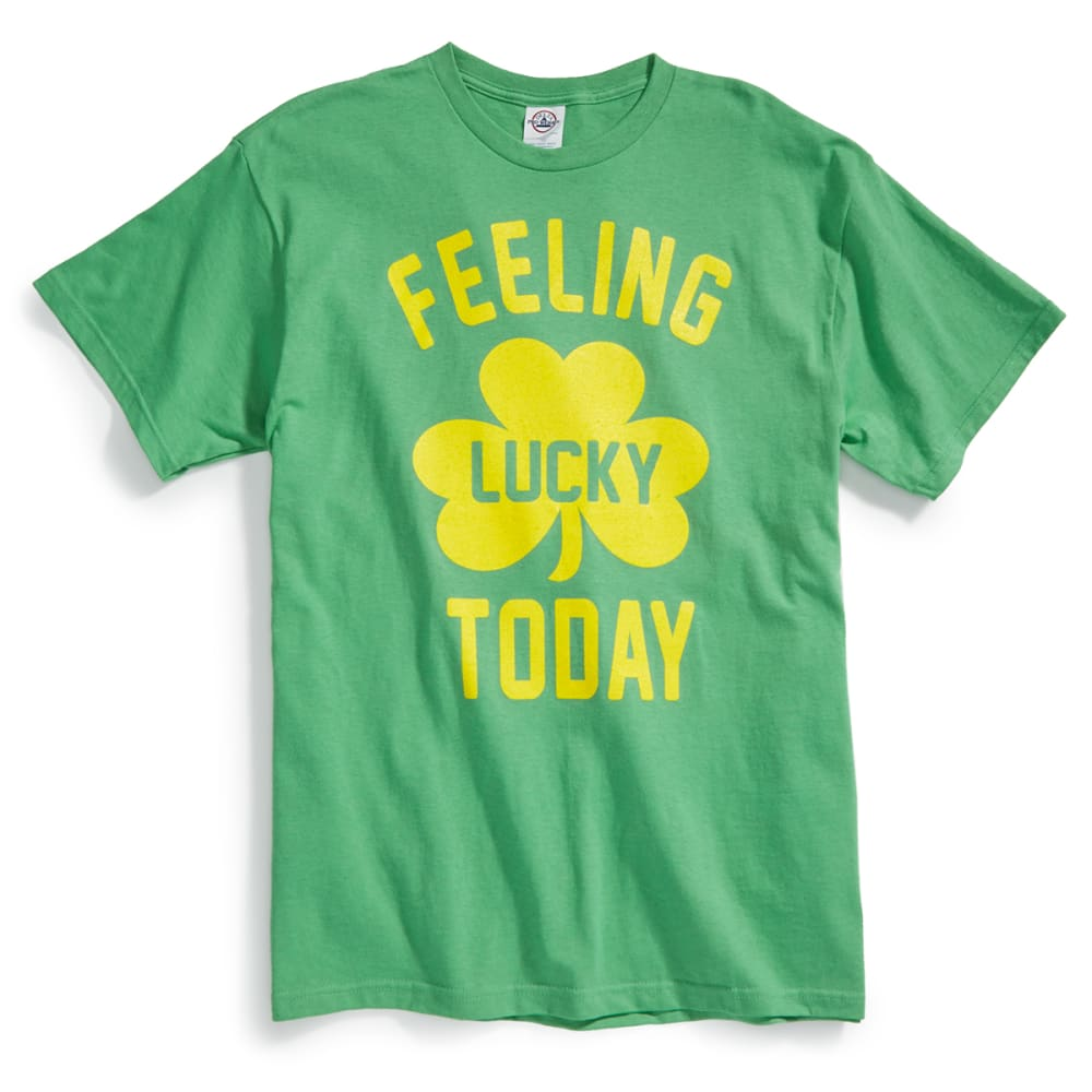 TEE LUV Guys' Feeling Lucky Today Short-Sleeve Tee - GREEN