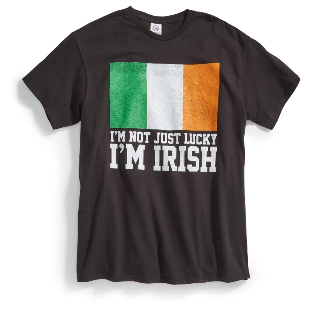 TEE LUV Guys' I'm Not Just Lucky, I'm Irish Short-Sleeve Tee - BLACK