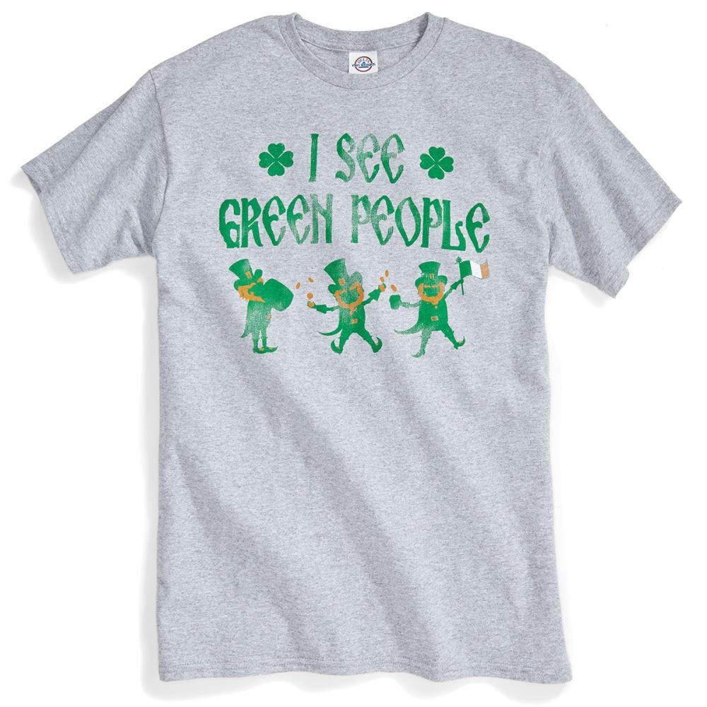 TEE LUV Guys' I See Green People Short-Sleeve Tee - HTR GREY