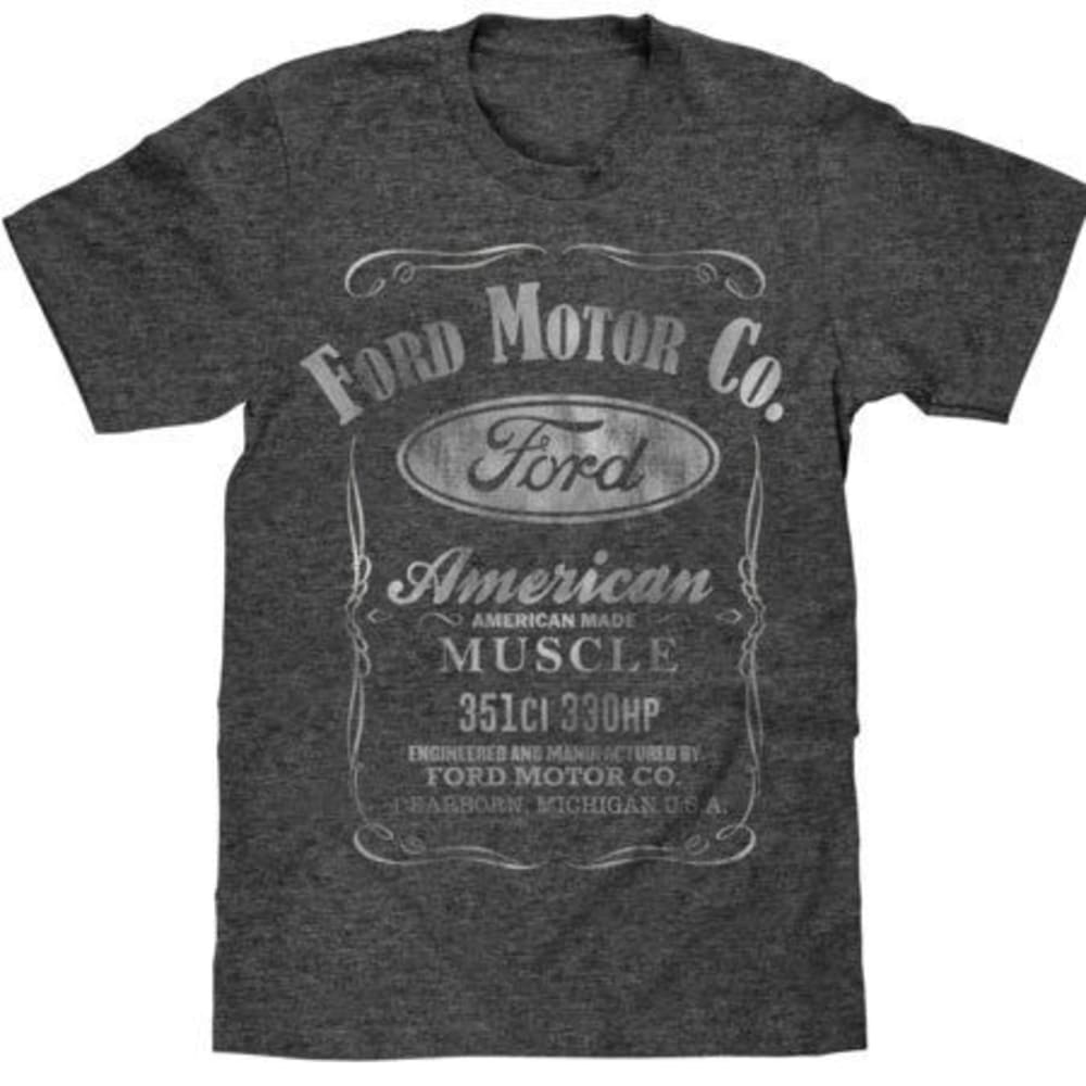 TEE LUV Guys' Ford Motor Co. American Made Muscle Short-Sleeve Tee - CHR HTR