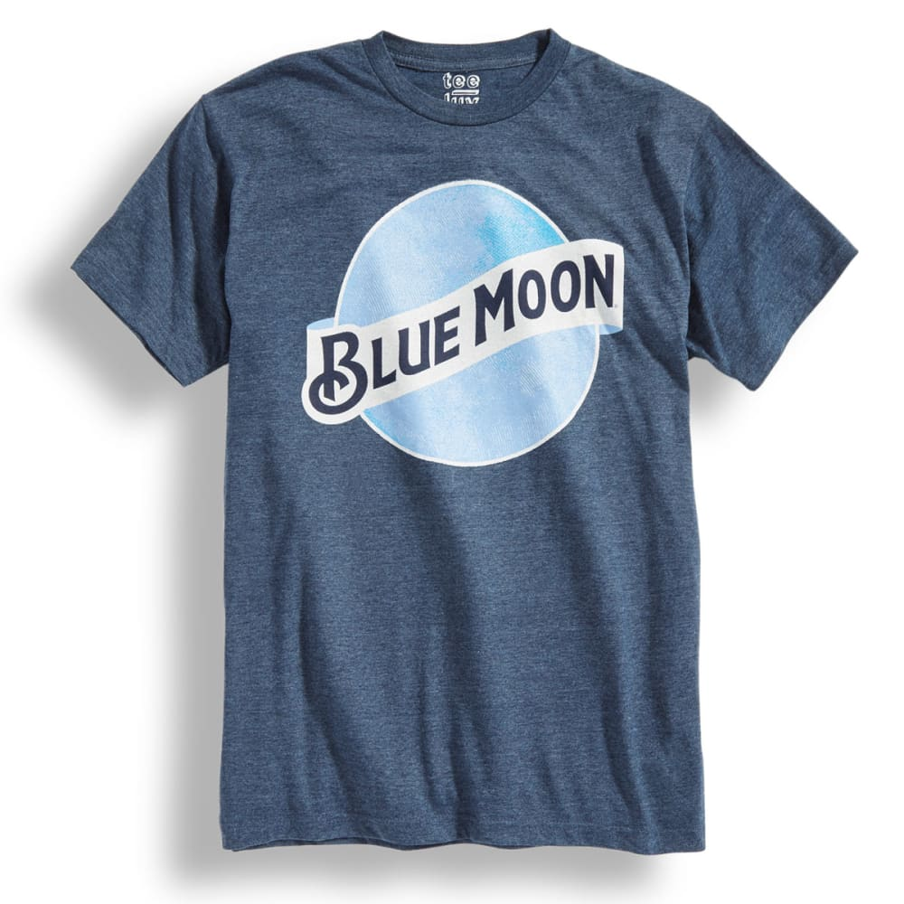 TEE LUV Guys' Blue Moon Short-Sleeve Tee - NAVY HTR